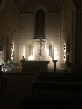 Paunat, Frankreich: In the church just before leaving
