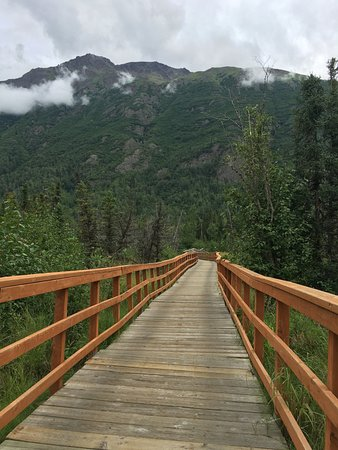 Eagle River Nature Center: part of the trail is crisscrossed with bridges