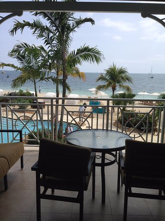Sandals Negril Beach Resort & Spa: View from the Crystal Lagoon 2nd Floor Honeymoon Suite.