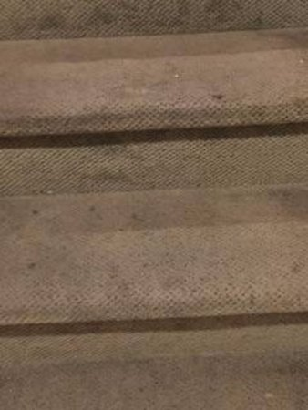 Fernwood Resort: Dirty carpet on the stairs inside the villa