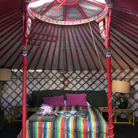 El Cosmico: Inside of Yurt 1