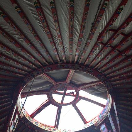 El Cosmico: Vent in the roof of Yurt