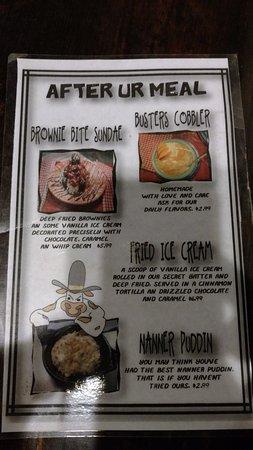Burkburnett, TX : Dessert Menu