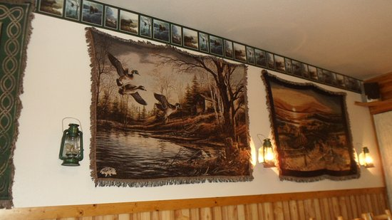 Fairfield, MT: Tapestries decorating the walls
