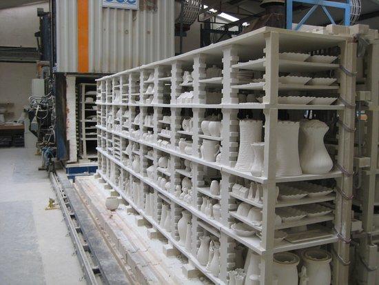 Belleek, UK: Storage near the furnace.