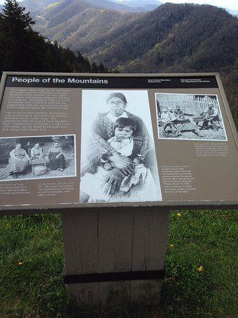 Mountain Memory Tours: One of the Markers of information on the trail.
