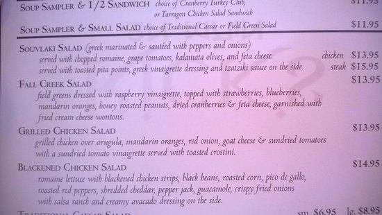 East Aurora, estado de Nueva York: Fall Creek Salad description