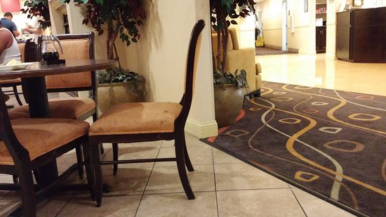 Comfort Suites Beaufort: Check out the dirty chair, all were this way.