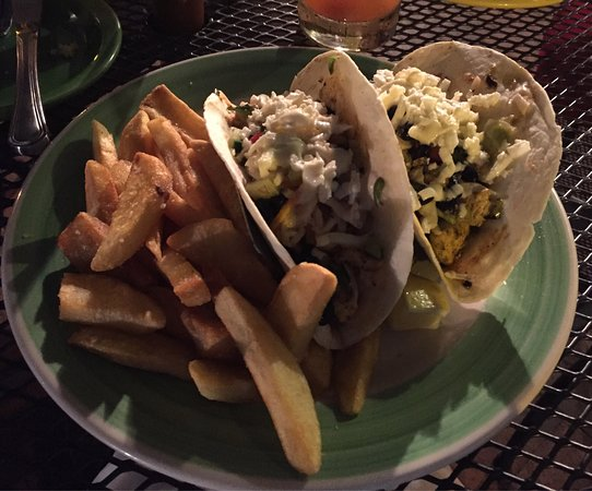 Blue-Eyed Crab Grille And Raw Bar: So delicious!  Grilled fish tacos & fries.