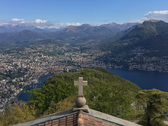 view from monte san salvatore picture of monte san salvatore lugano tripadvisor. Black Bedroom Furniture Sets. Home Design Ideas