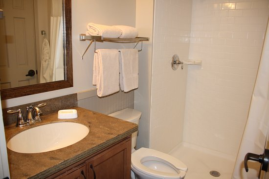 F. D. Roosevelt State Park Cottages: Clean, updated bathroom in cottage