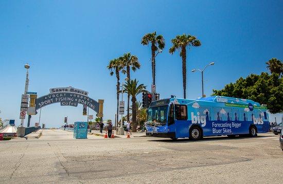 Blue Bus Santa Monica Pier