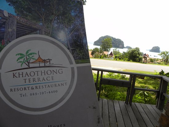 Khaothong Terrace: The deck and the sea view