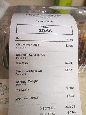 Fairfax, VA: receipt