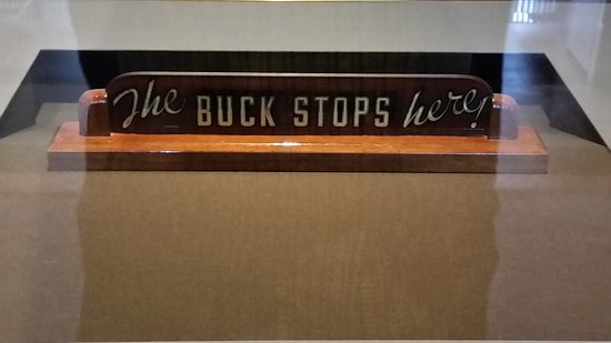 Harry S Truman Library And Museum The Buck Stops Here Sign From His Oval