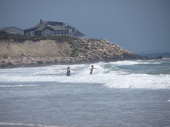 Little Compton, RI: Shoreline and Surf at the End of the Preserve