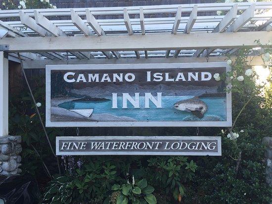 Camano Island, واشنطن: Front signage