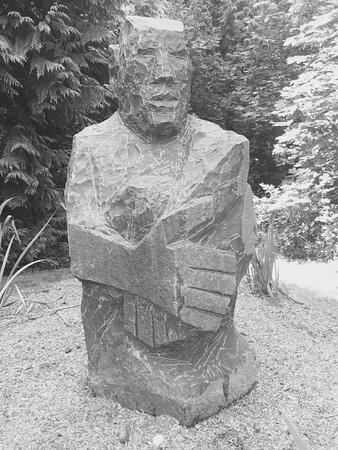 Camano Island, WA: rock sculpture