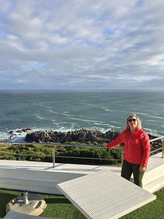 De Kelders, Südafrika: da sacada é possível observar as baleias/golfinhos