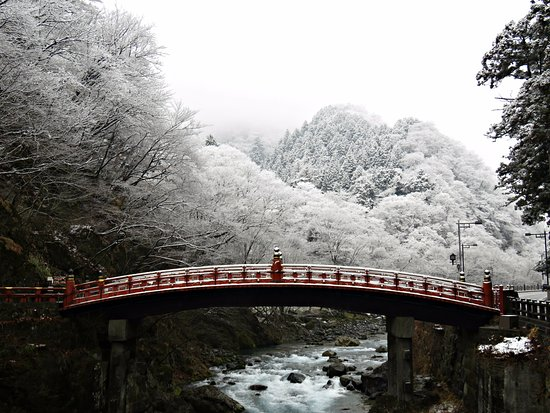 Shinkyo: The bridge on a snowy day