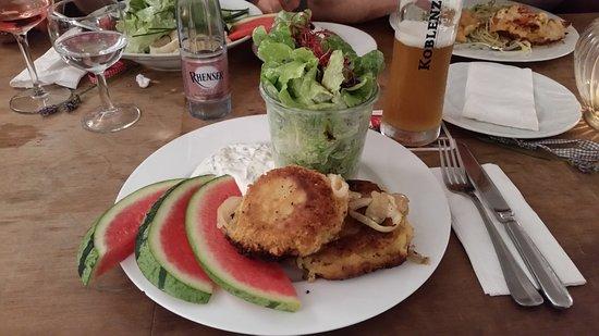 Karmeliter Hof: Kartoffel-Zucchini-Puffer