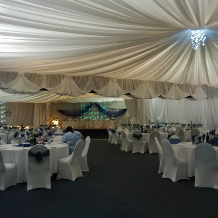 Diaz Hotel & Resort: permanently draped functions venue
