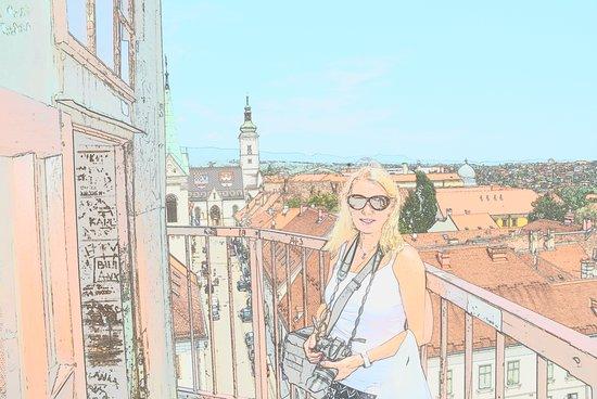 Lotrščak Tower: Utsikt fra tårnet, tatt med litt spesial effekter på kamerat