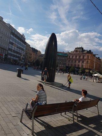 Brno, Czech Republic: Die Uhr