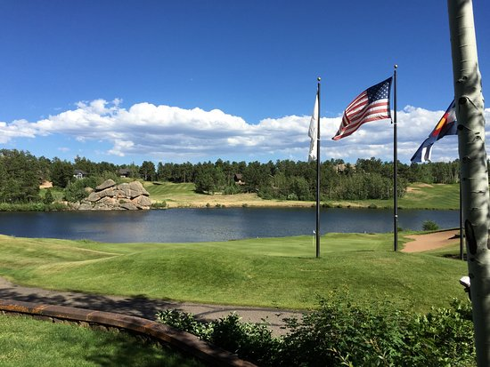 Red Feather Lakes, CO : 18th Green Fox Acres Golf Club