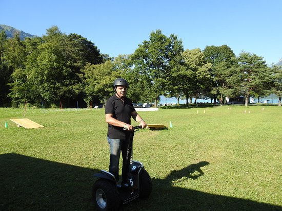 Mobileo Segway Tours Interlaken: Riding Segway at Bonigen