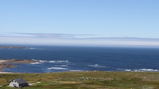 Brinlack, Ireland: View from the property down to the coast (easy accees to coastal path)