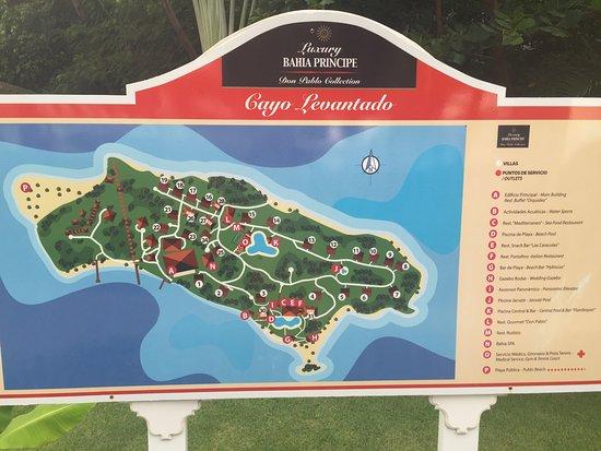 Map of Cayo Levantado  Picture of Luxury Bahia Principe Cayo
