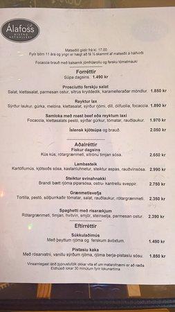 Álafoss Café: Menu