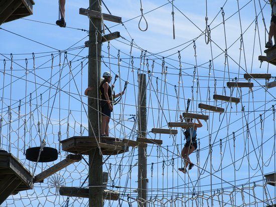 The top of Wild Acadia Fun Park's ropes course