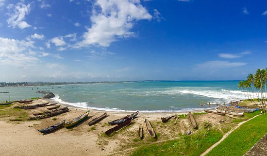 Elmina, กานา: View from the top of the castle