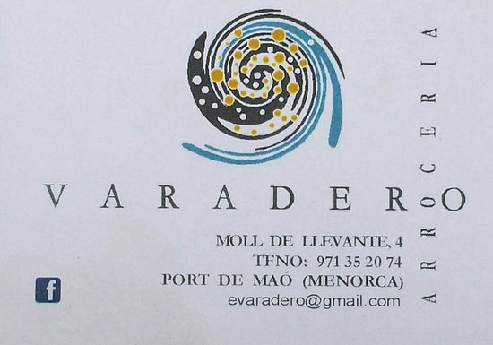 Restaurante Varadero: Visitenkarte