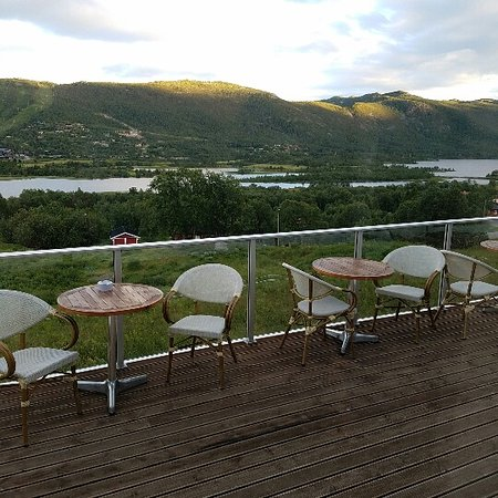 Ustedalen Hotel: Outside deck