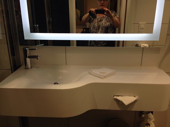 Bathroom Mirror Had Frame With Light
