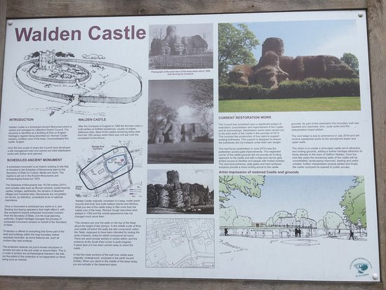 Saffron Walden, UK: Walden Castle, interpretation board