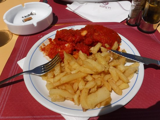 La Rueda Restaurant Bar : Morue sauce tomate