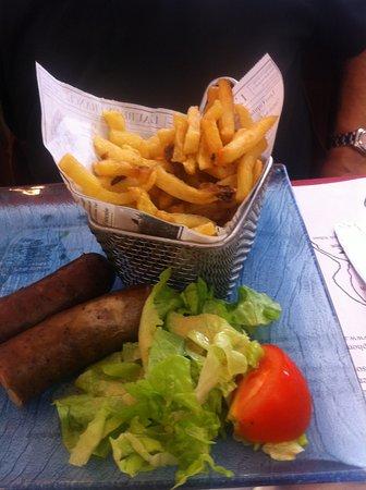 Ile Molene, Fransa: saucisse de molène frites