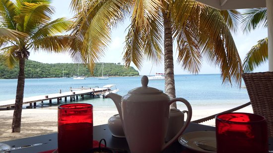 The Inn at English Harbour: breakfast view