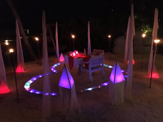 Raa Atoll: Special dinner
