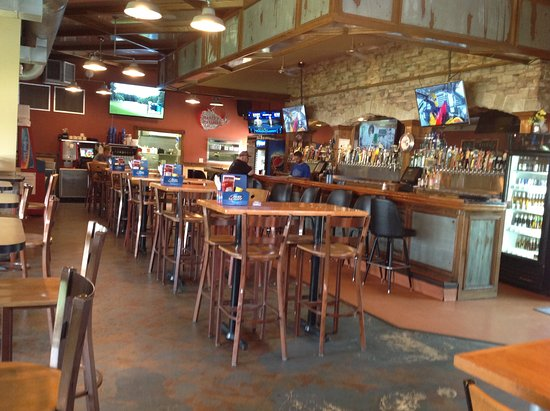 Red Wing, MN: View of the bar area