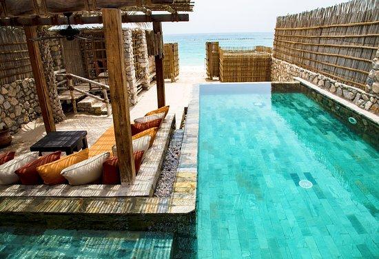 Six Senses Zighy Bay: private pool at beachfront villa