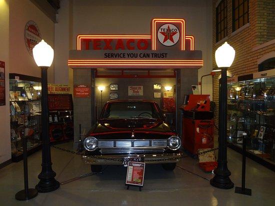 Kenosha History Center: nash in a texaco station mockup