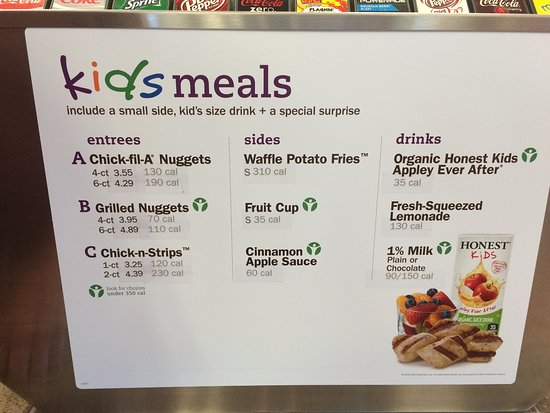 graphic about Chick Fil a Menu Printable identify Youngsters Menu - Visualize of Chick-fil-A, Ankeny - TripAdvisor
