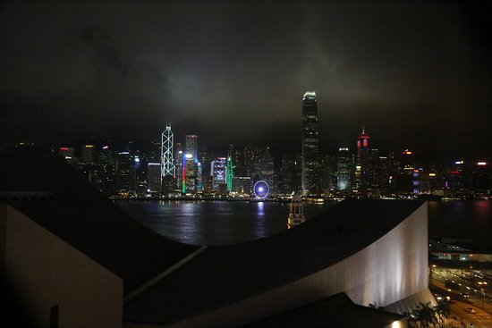 The Salisbury-YMCA of Hong Kong: View from Family Suite on 13th Floor at night
