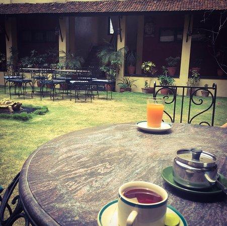 Planet Bhaktapur Hotel: Jardin intérieur
