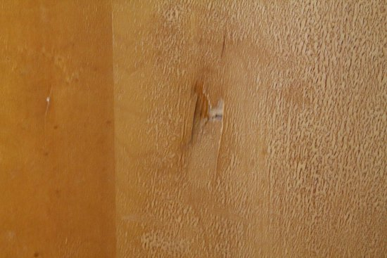 Intervale, Nueva Hampshire: Outside of bathroom door. Looked like someone punched it.